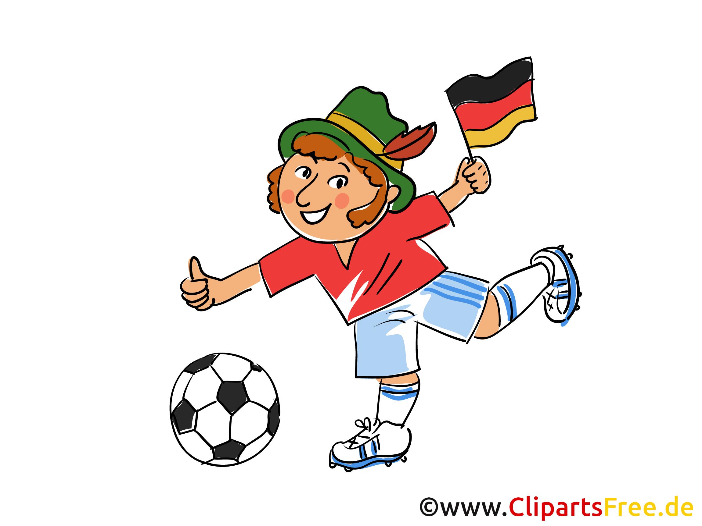 Fussball in Bayern Clipart-Bild