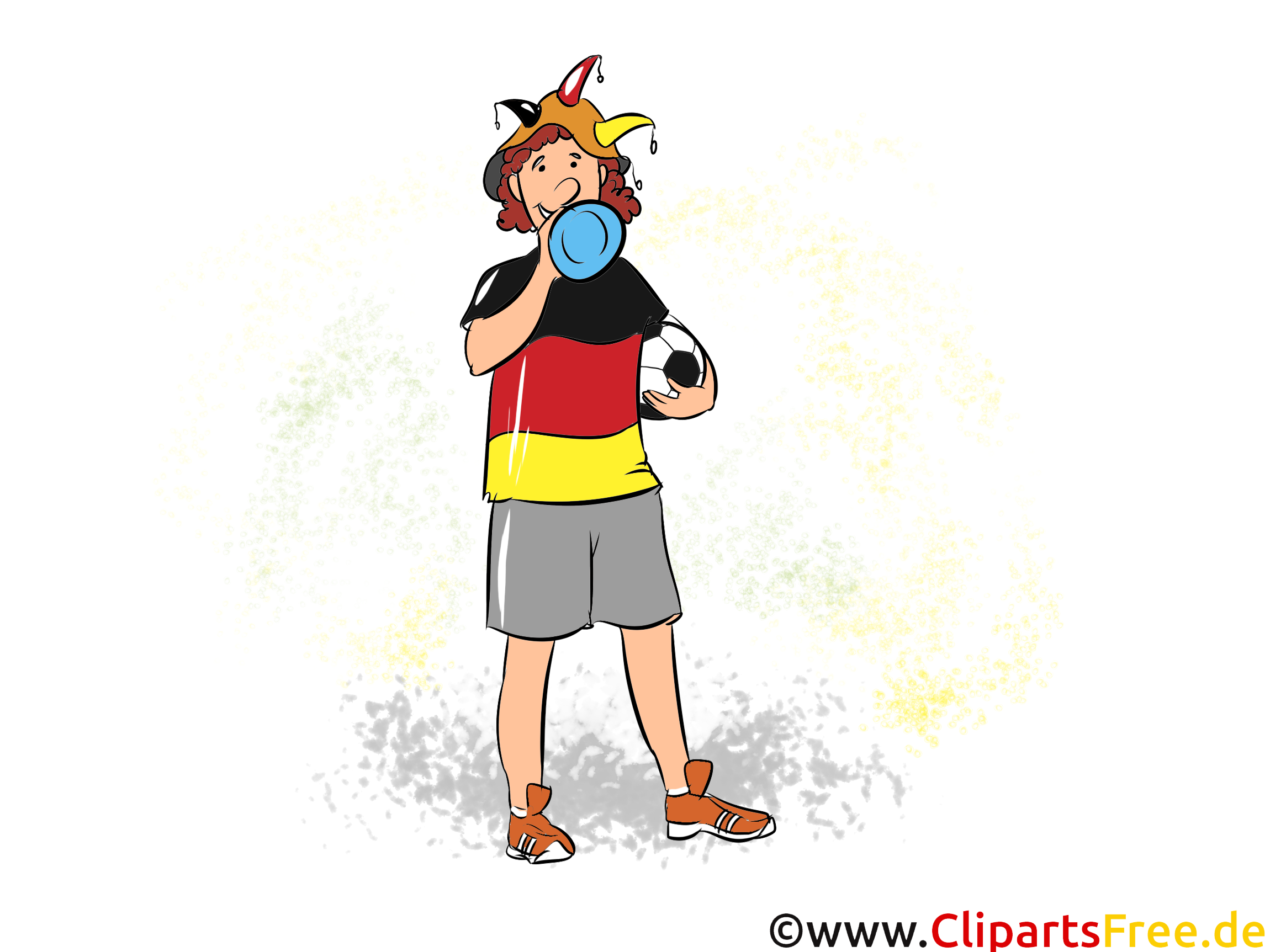 Voetbal grappige voetbal Fan Clipart