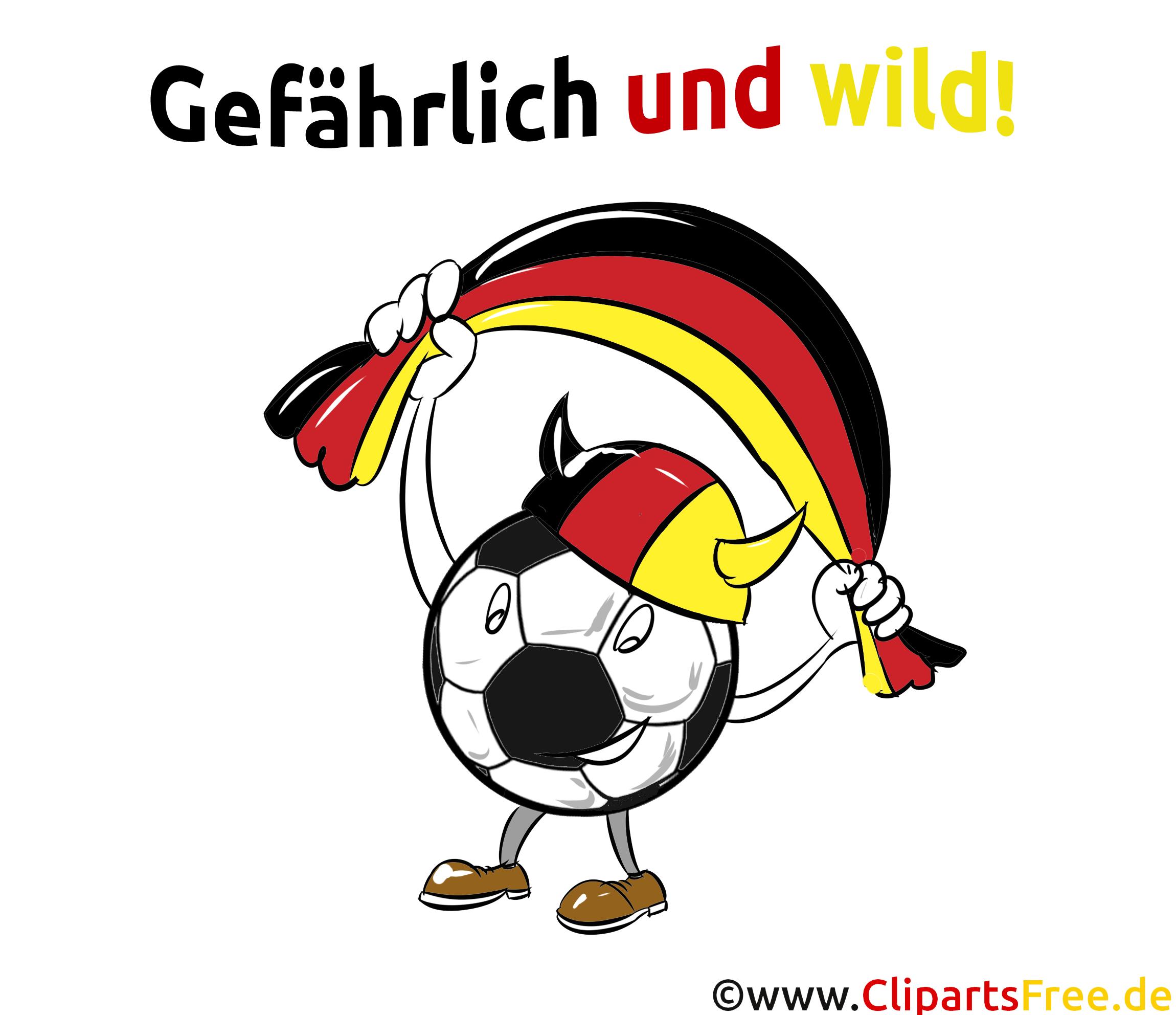 Fussball mit deutscher Flagge Clipart kostenlos