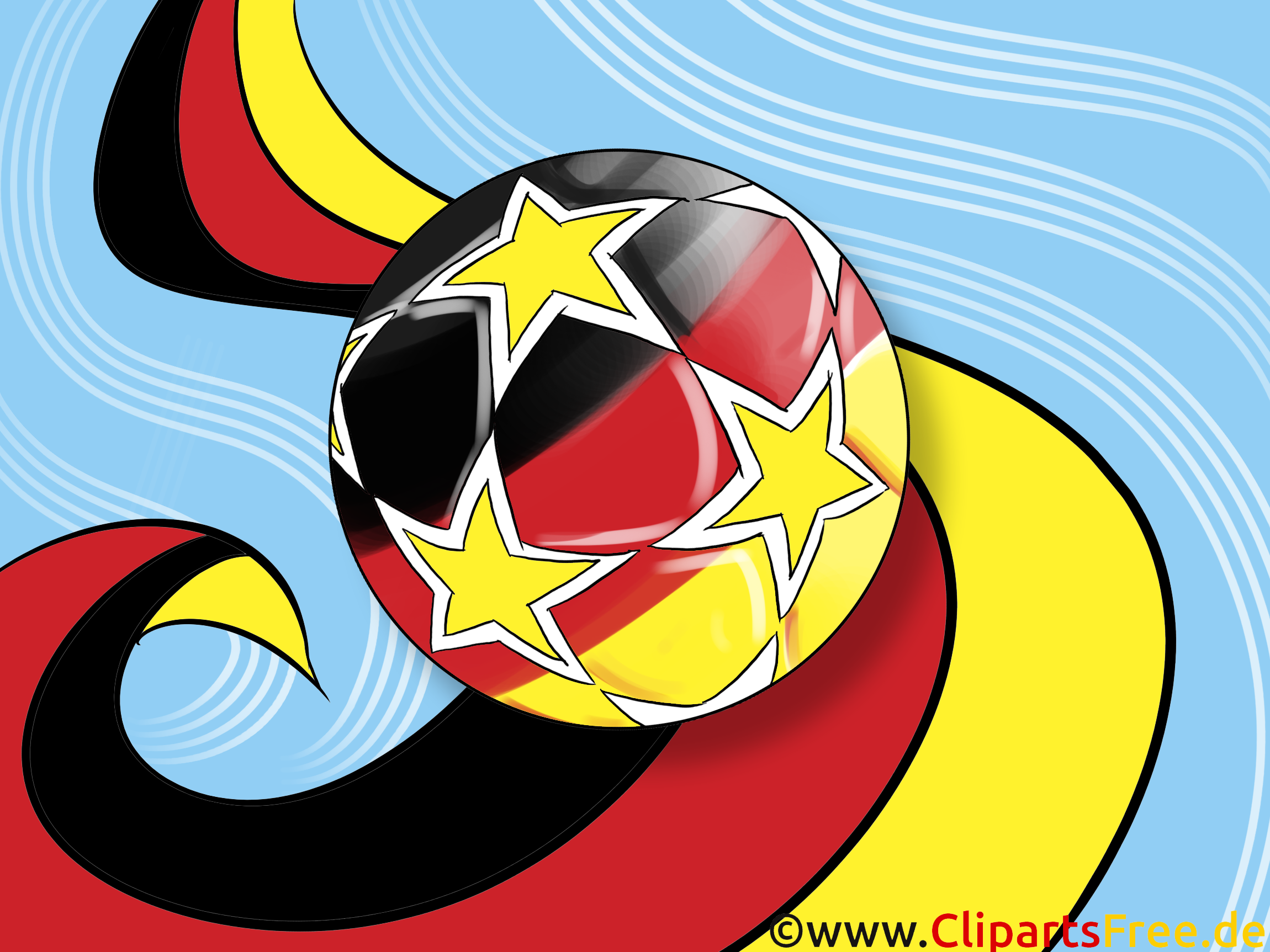 fu ball mit einem grunge flagge von deutschland bild clipart illustration. Black Bedroom Furniture Sets. Home Design Ideas