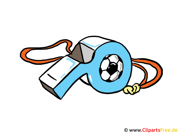 Het beeld van het voetbalfluitje, illustratie, clipart