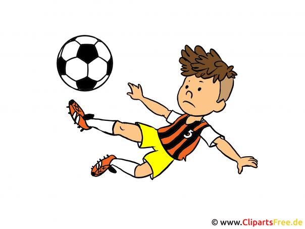 Fussballer Bild, Grafik, Cartoon, Clipart