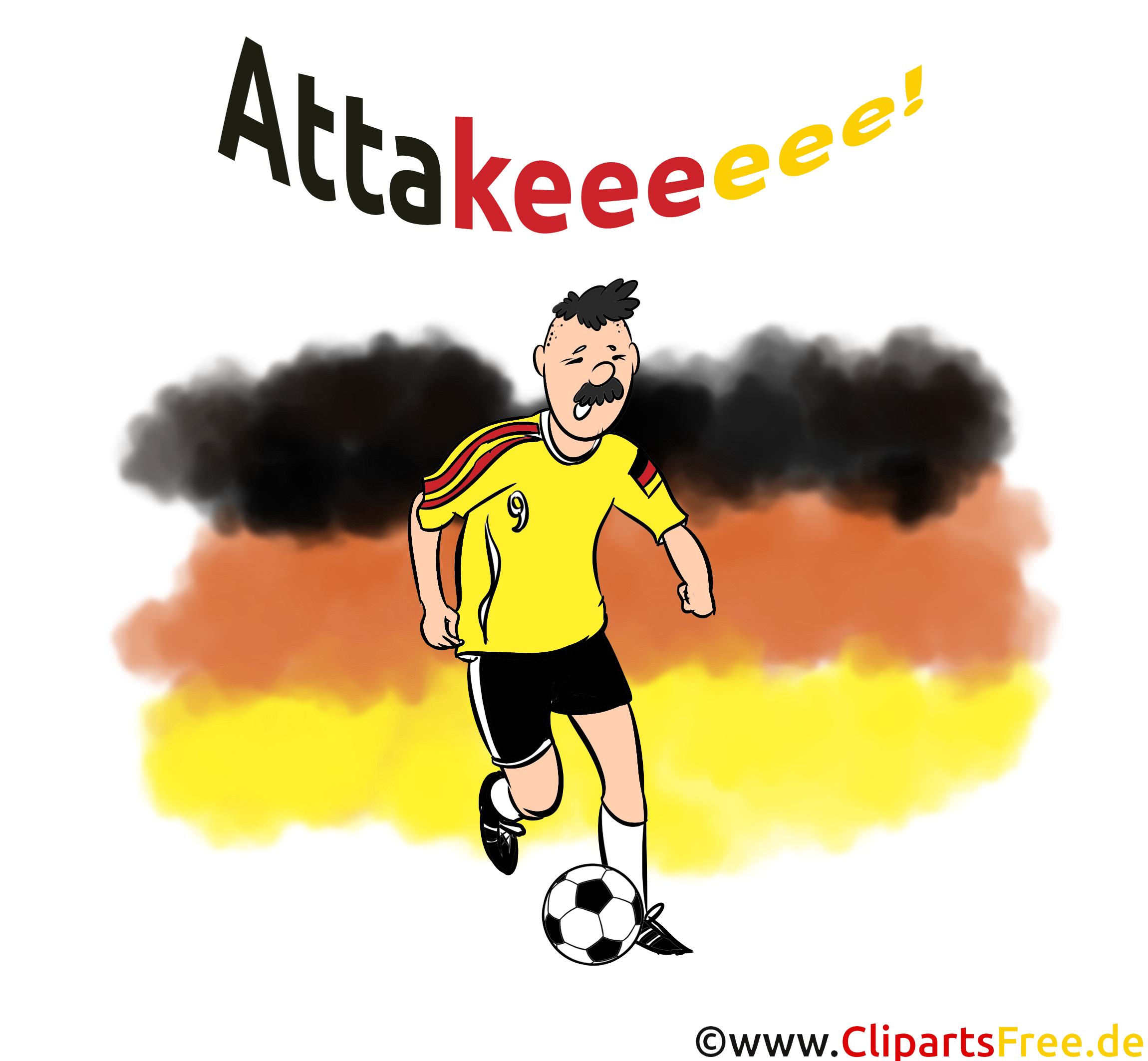 Fußballer Clipart - Deutsche Elf