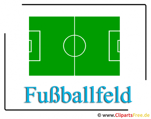 Voetbalveld - Soccer clipart to WM football