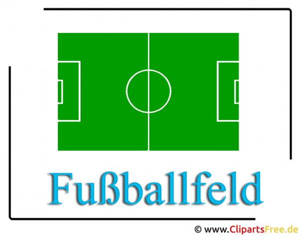 Fussballfeld - Fussball Clipart zu WM Fussball