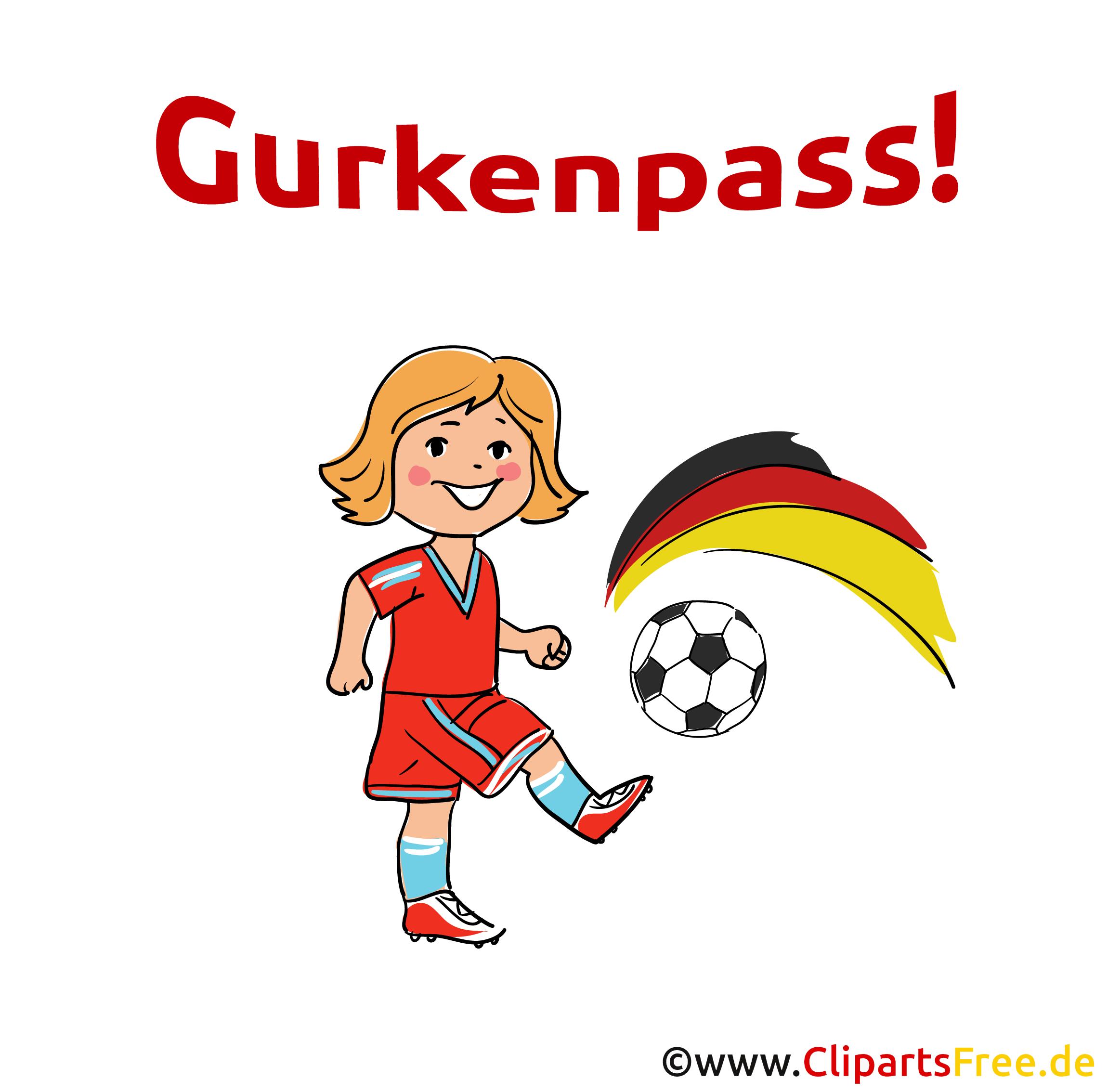 Fussballjargon Gurkenpass Clipart-Bild