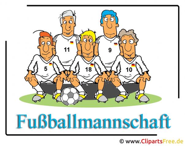 fussballmanschaft bild clipart kostenlos. Black Bedroom Furniture Sets. Home Design Ideas