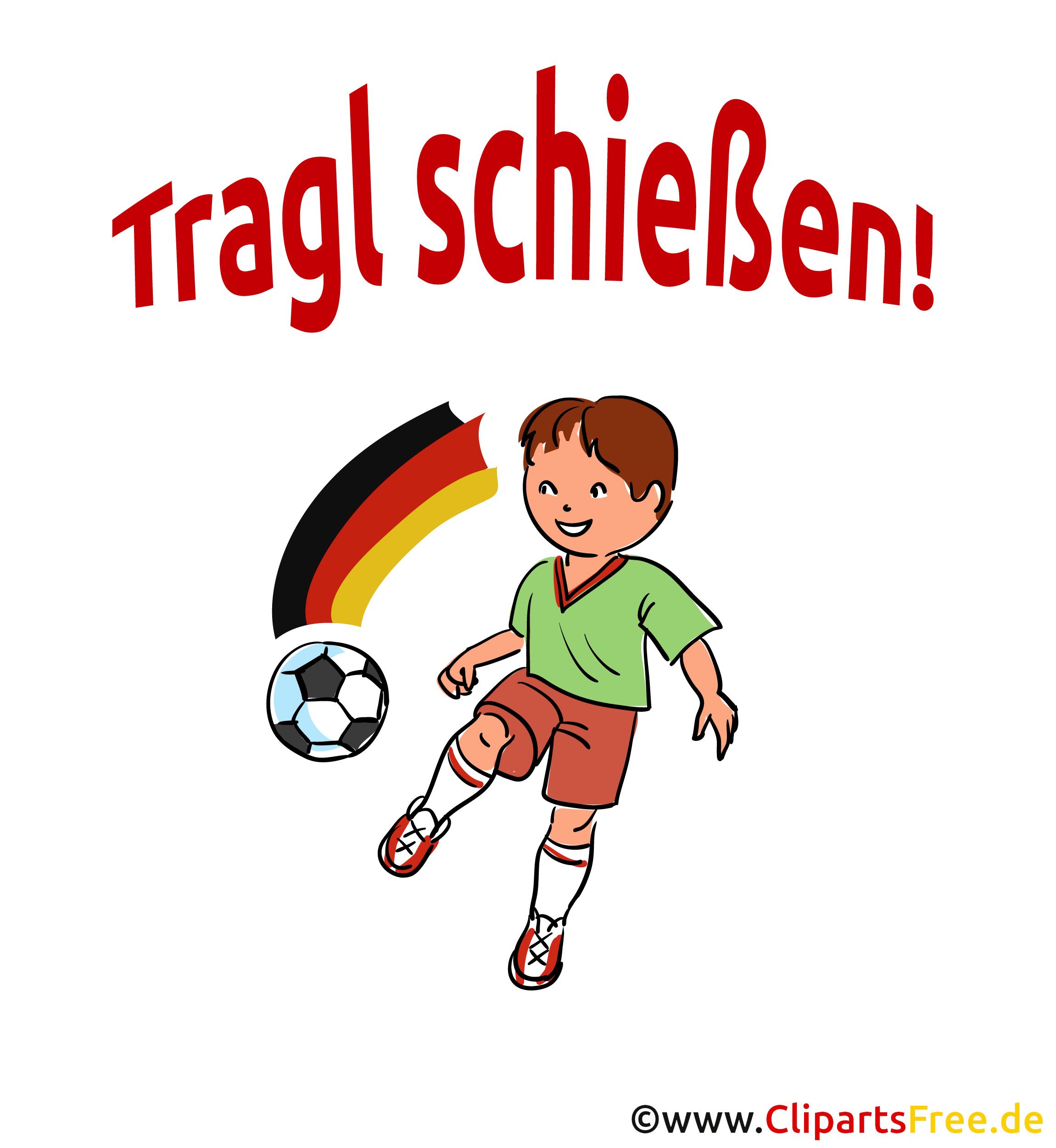 Voetbal slogan shoot - Clipart-afbeeldingen