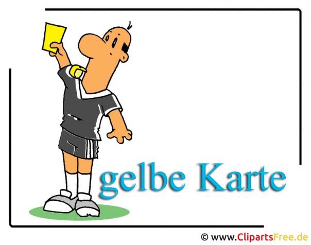 Gelbe Karte - Fussball Clipart free