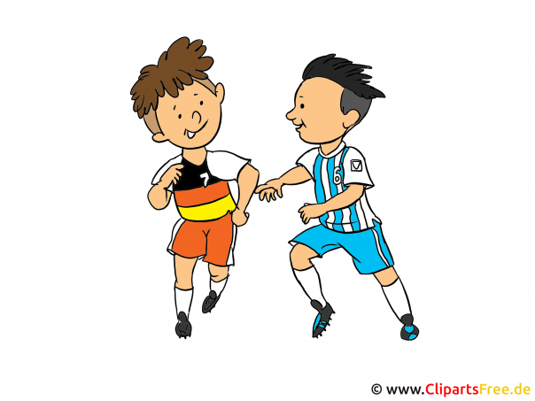 Kinder Fussball Clipart, Illustration, Bild