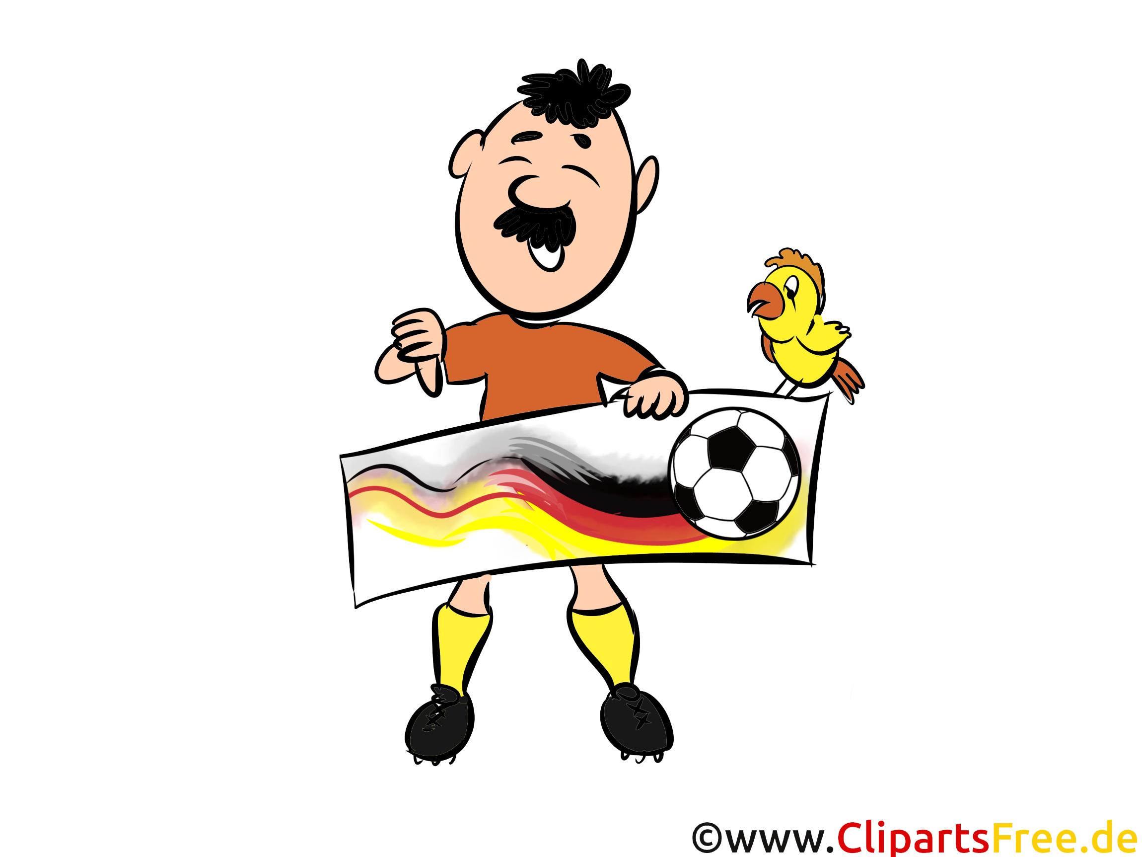 Lustige Fußball Bilder in Clipartstil