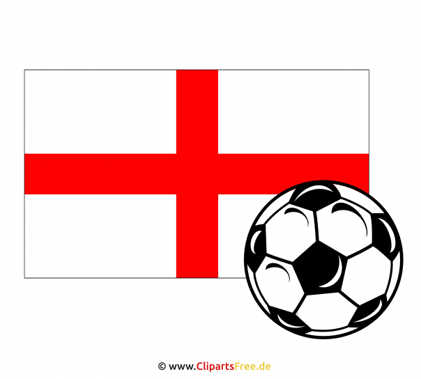 Soccer Ball with English flag