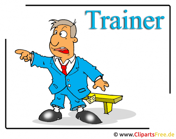 Sport Bilder - Trainer Cartoon