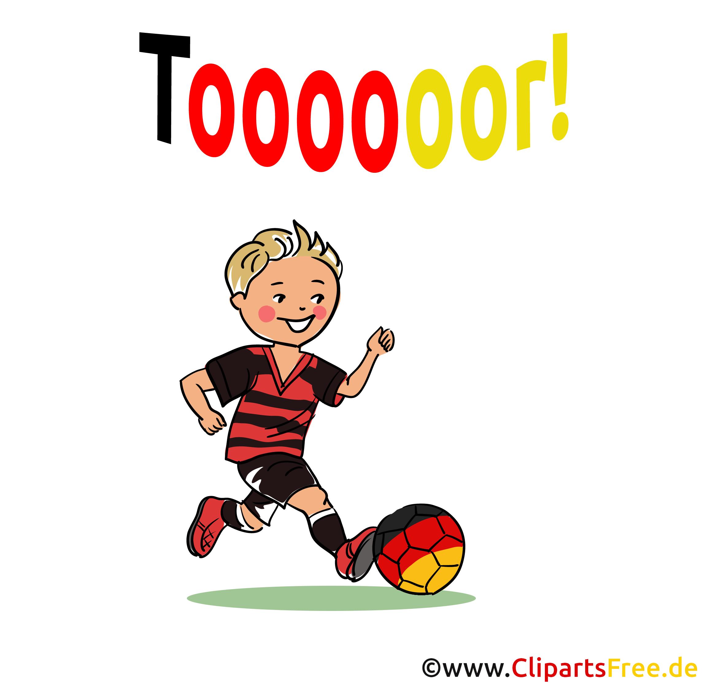 Stürmer Fussballspieler Illustration-Clipart