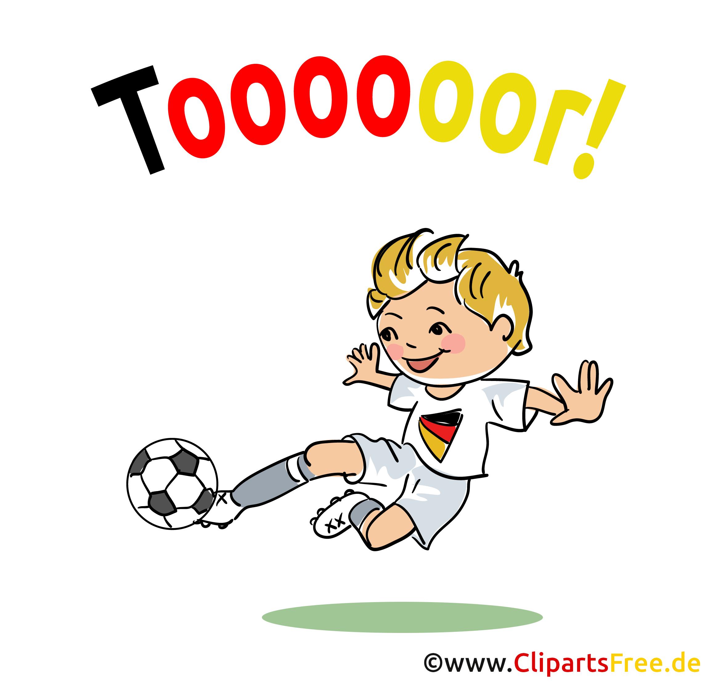Torschuss Clipart Fussball