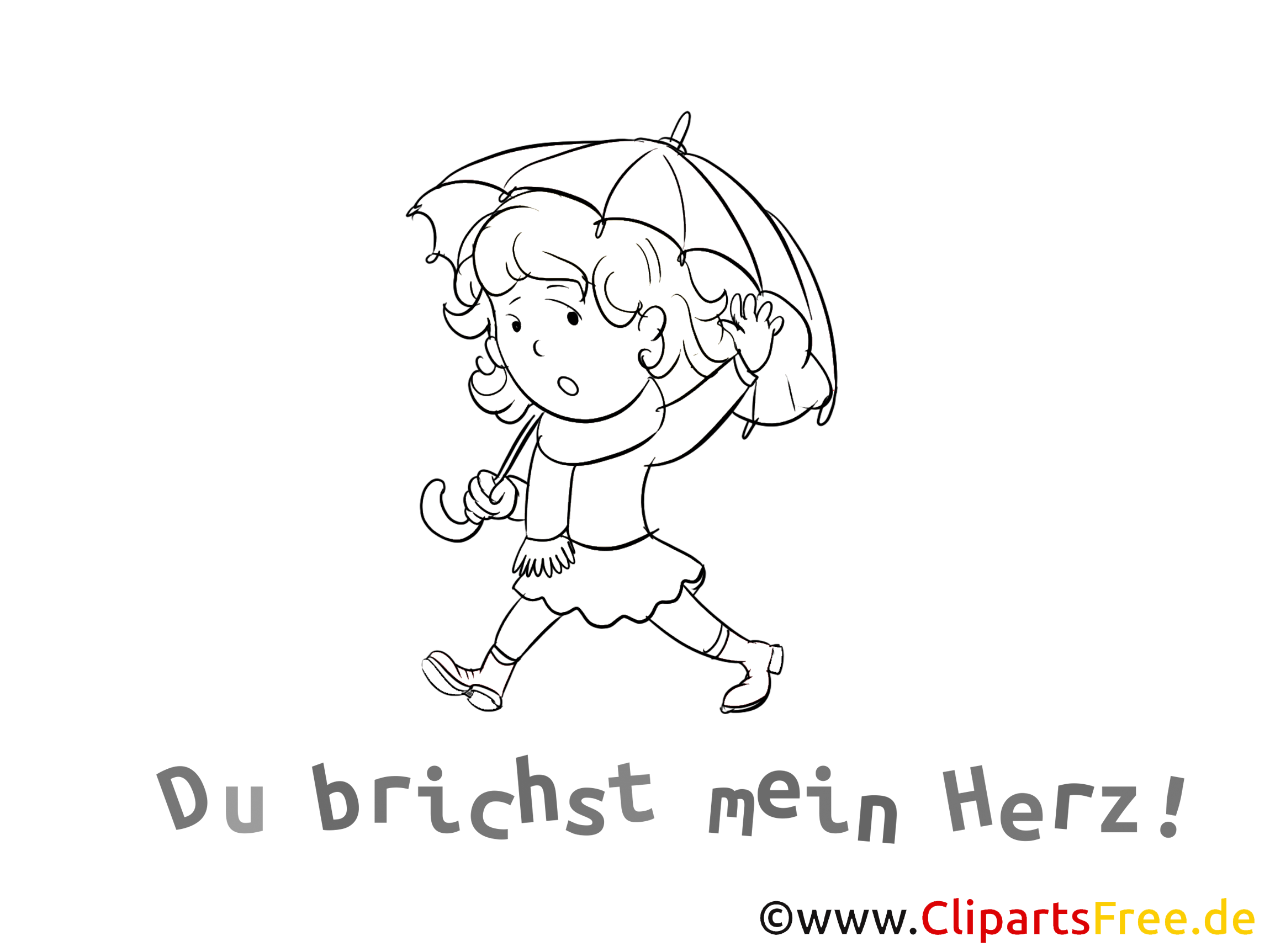 Du brichst mein Herz Karte, Grafik, Clipart, Cartoon