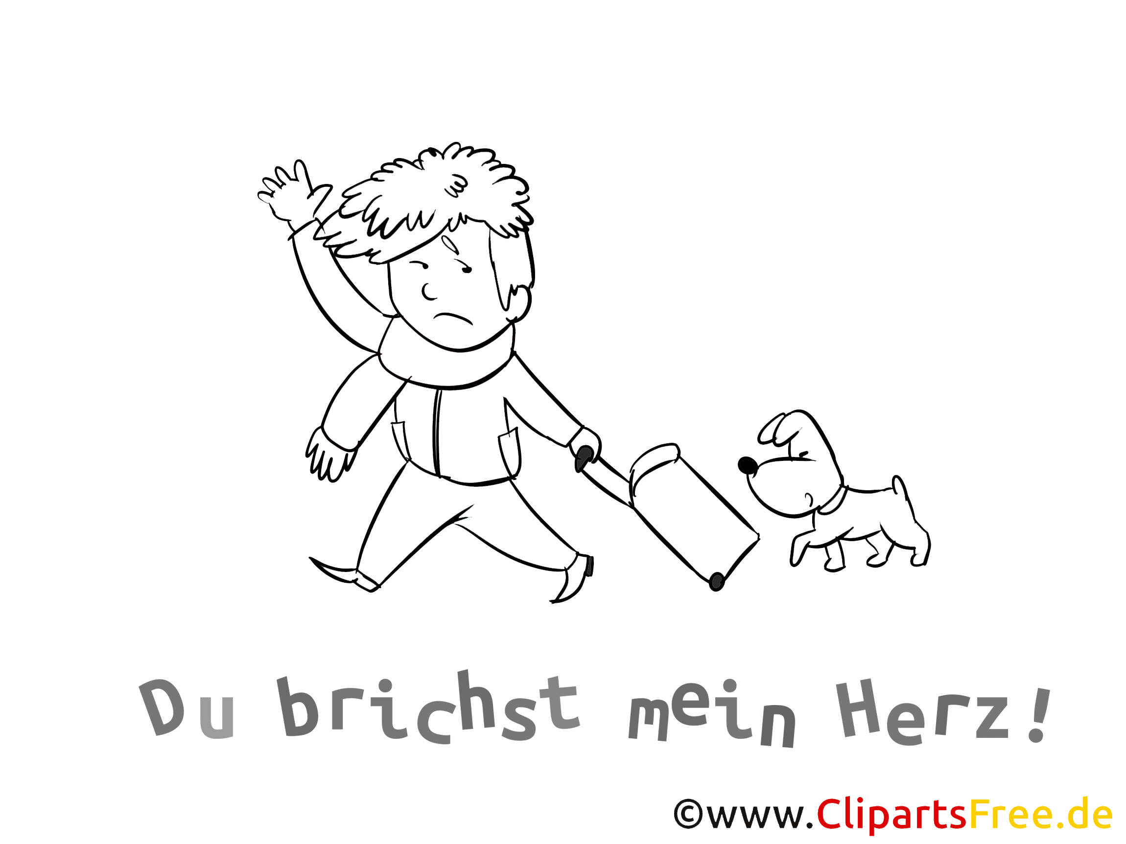 abschied bilder, cliparts, cartoons, grafiken, illustrationen