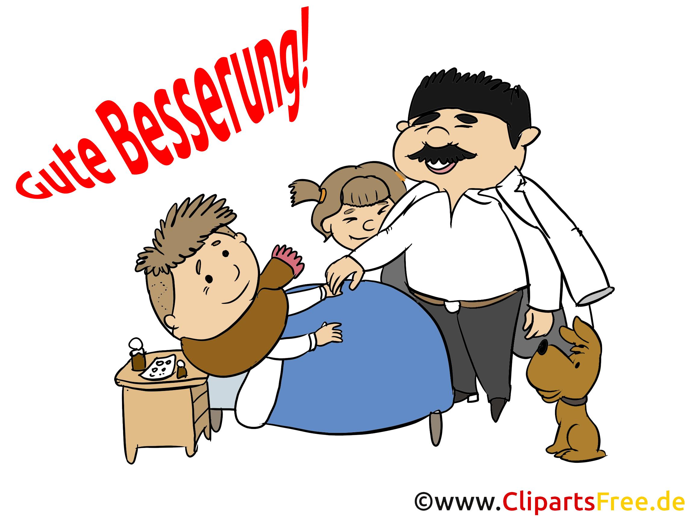 Patient im Krankenhaus Clipart, Illustration, Cartoon