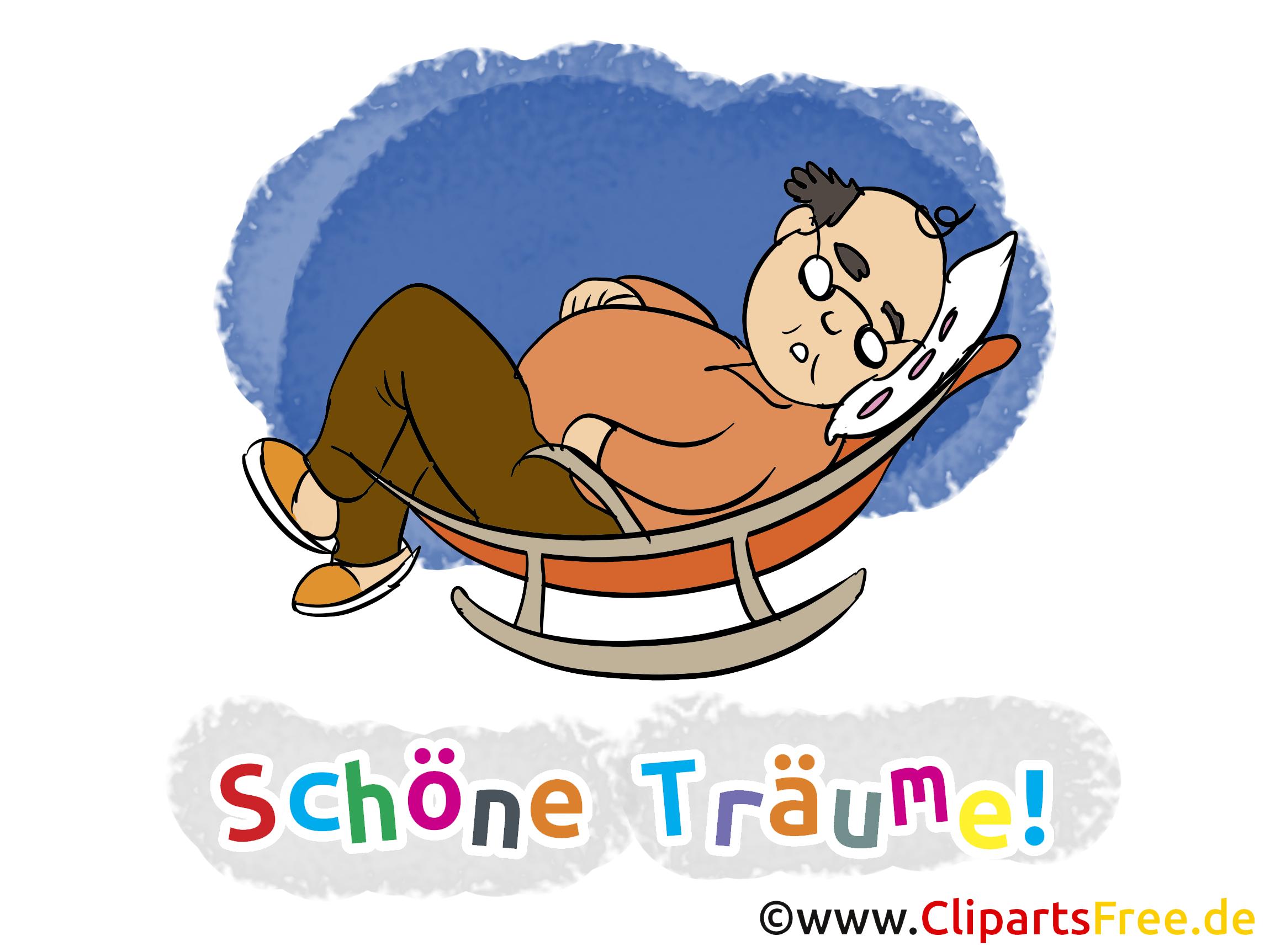 Schlafen Clipart, GB Bild, Cartoon, Grafik, Illustration gratis