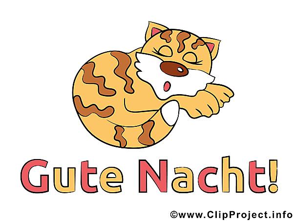 Schlafende Katze Clipart