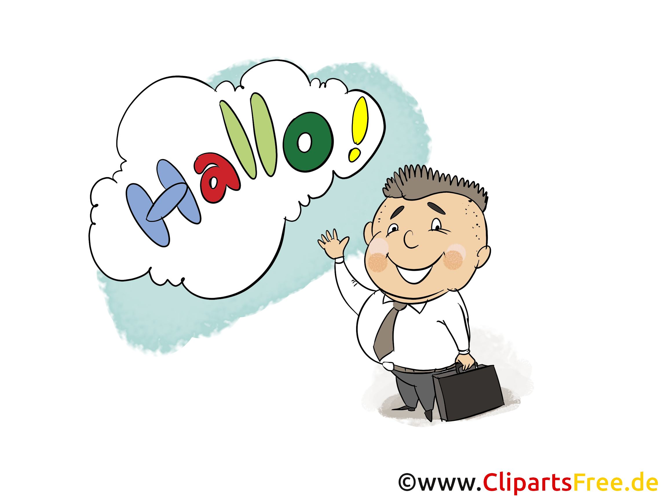 Hallo Clip Art, Bild, Grafik, Karte, Cartoon
