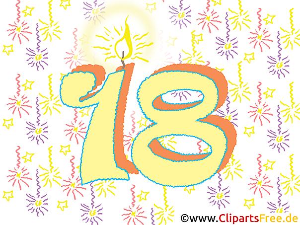 18誕生日カードとクリップアート