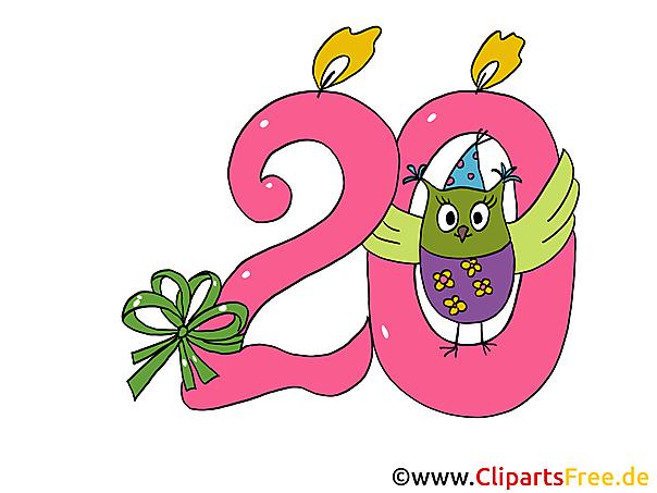 20 Geburtstag Clipart