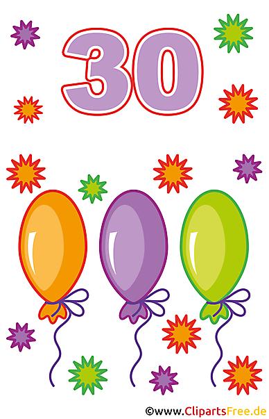 30 Geburtstag Bilder Clipart