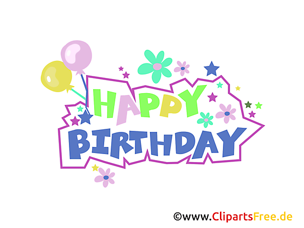 Birthday Clip Arts gratis download