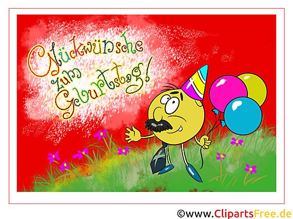 Bunte Glückwunschkarte zum Geburtstag