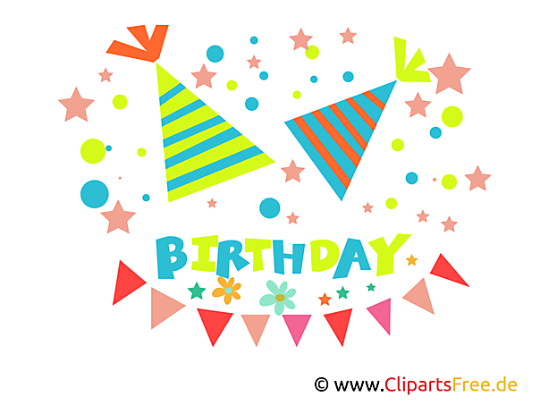Children Birthday Clipart, eCard, Image