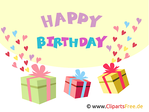 Happy Birthday Clip Art Geschenke