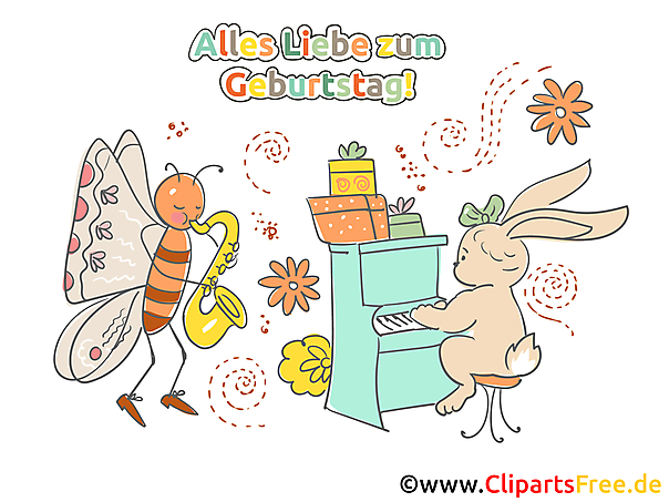 Clipart gelukkige verjaardag