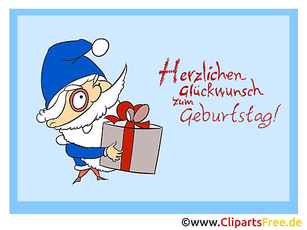 Clipart Geschenk zum Geburtstag