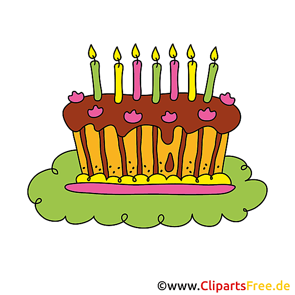 ケーキクリップアートとフレーム40誕生日の招待状