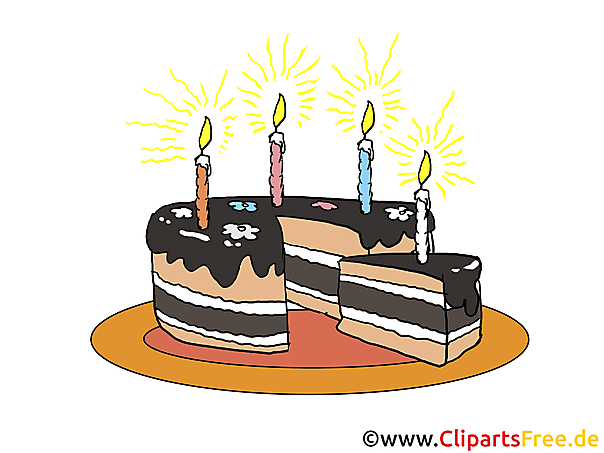 Cartoon Birthday Cake With Candles