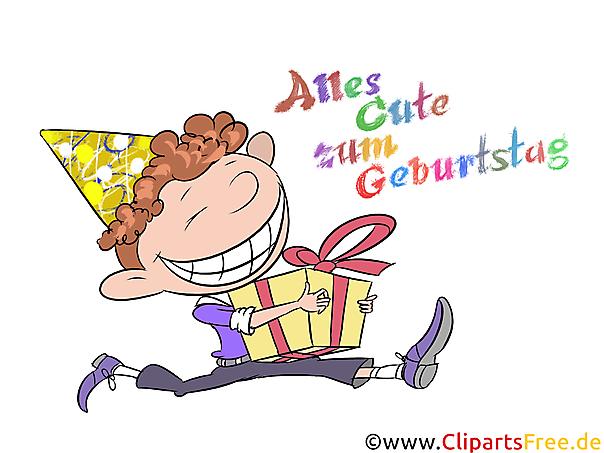 Geburtstagswünsche für Jungen, Kinder - Clipart zum Geburtstag