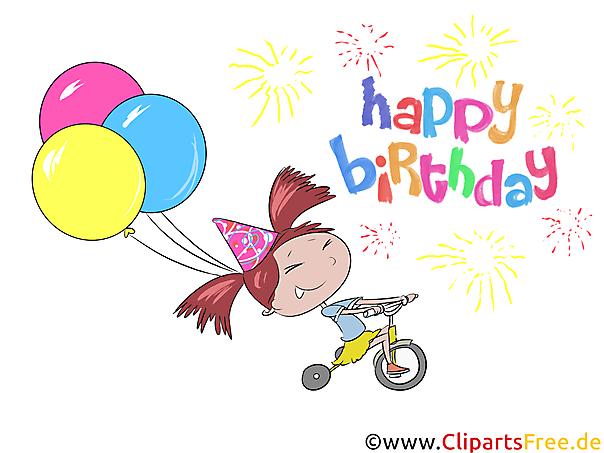 Verjaardagswensen voor meisjes - vector clipartafbeeldingen