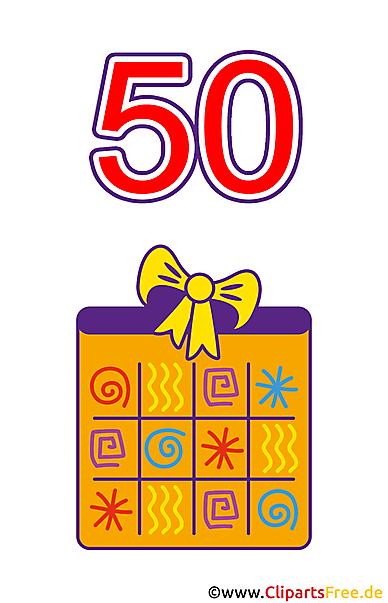 Hediye 50 Doğum Günü Clipart Bedava