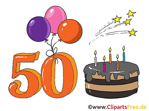 Glückwünsche zum 50. Geburtstag - Glückwunschkarte zum Geburtstag