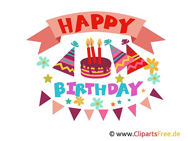 お誕生日おめでとう写真、クリップアート、イラスト