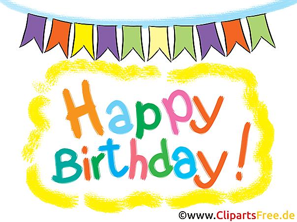 Happy Birthday mein Schatz Clipart, Karte, Bild