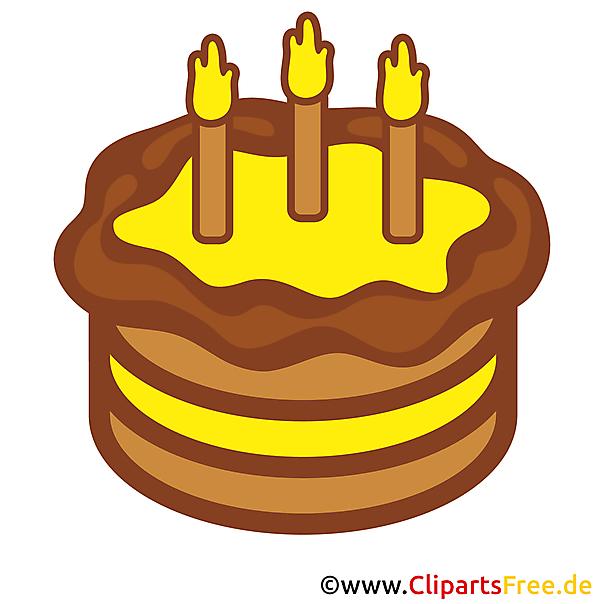 Doğum günü için bedava clipart - kek