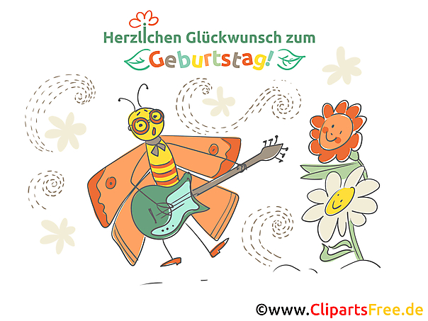 Kostenlose Geburtstagsbilder - Cliparts, Grüße, Gifs