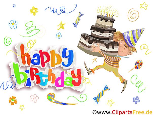 Kostenlose Vorlage zum Ausdrucken Happy Birthday