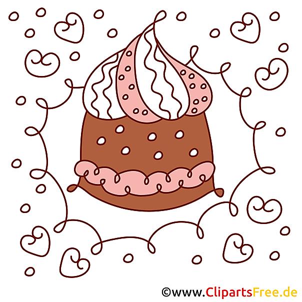 誕生日ケーキのイメージクリップアート