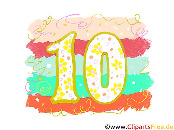 grafik 10  gratis clipartbilder mit zahlen zum drucken
