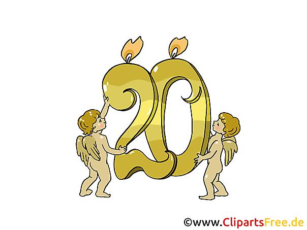 20誕生日画像クリップアート