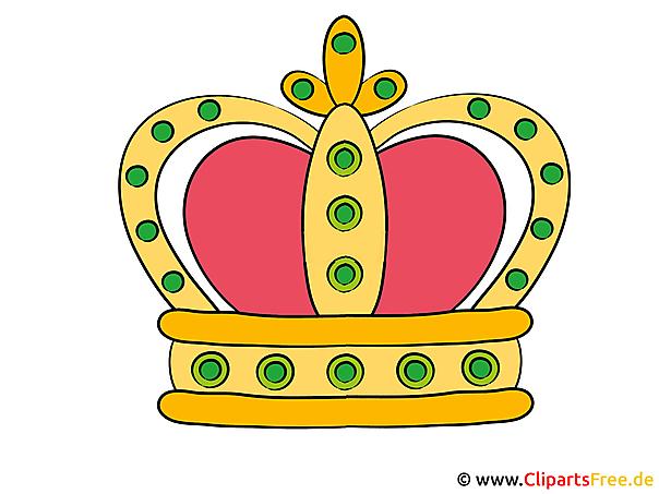 Krone Clipart, Bild, Cartoon, Illustration, Image