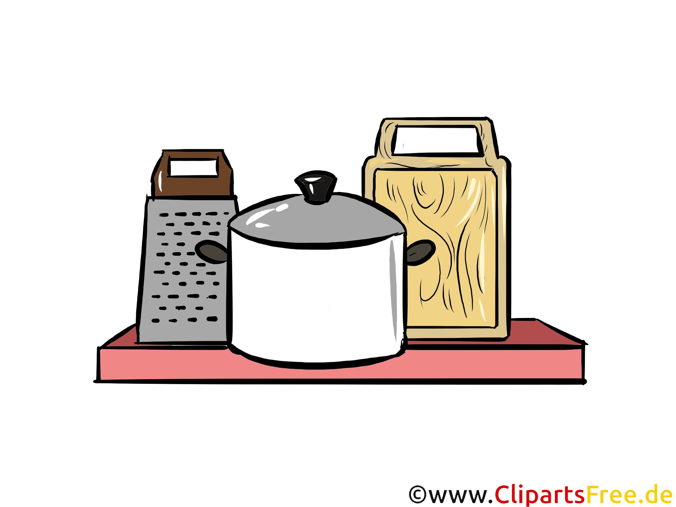 Regal In Der Kuche Illustration Clipart Bild